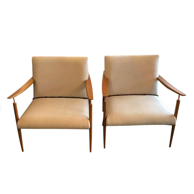 Mid-Century Inspired Lounge Chairs - a Pair For Sale - Image 5 of 5