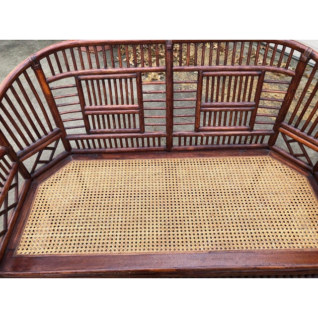 Vintage Brighton Bamboo Wicker Furniture Sofa - Set of 3 For Sale - Image 10 of 11