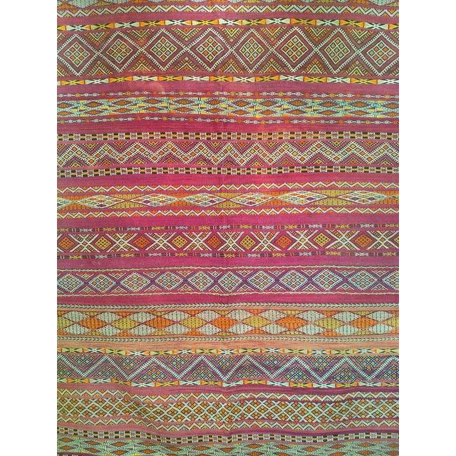 "Pink Vintage Moroccan Kilim 5' 9"" X 10' For Sale - Image 8 of 11"