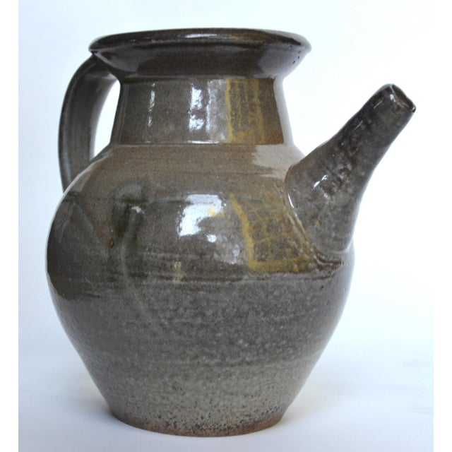Asian Studio Pottery Large Pitcher, Style of Winchcombe Pottery For Sale - Image 3 of 8