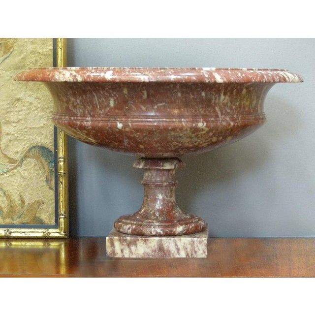 Mid 19th Century 19th Century Turned Rossa Verona Marble Tazzas - A Pair For Sale - Image 5 of 7