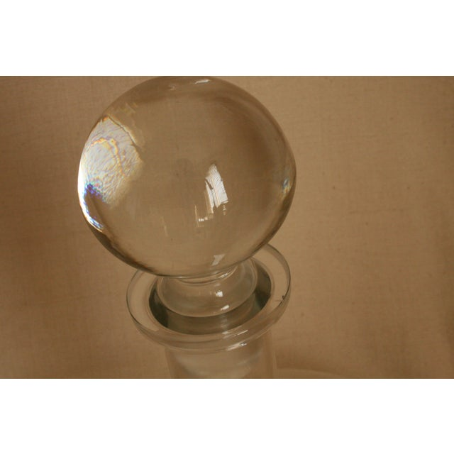 Transparent Vintage Etched Toscany Crystal Clipper Ship Decanter & Snifters For Sale - Image 8 of 10