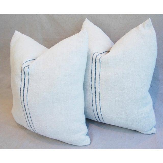 Vintage French Grain Sack Textile Pillows - a Pair - Image 10 of 10