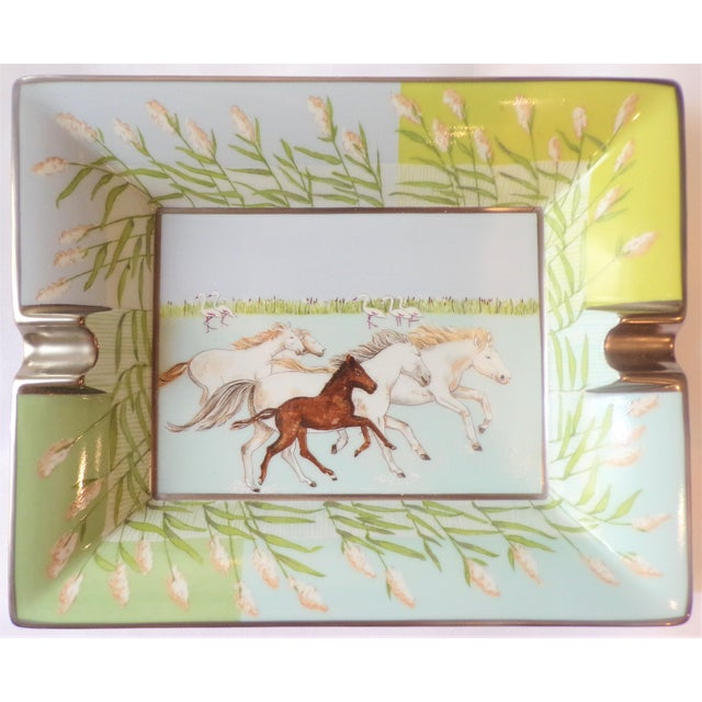 French Vintage Hermes Running Horses Ashtray / Catchall For Sale - Image 3 of 11