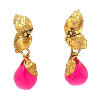 Emanuel Ungaro Paris Shoulder Duster Earrings For Sale