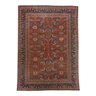 Red Ground Sultanabad Carpet For Sale