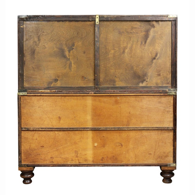 Victorian Campaign Mahogany Military Chest For Sale - Image 10 of 11