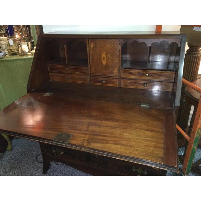 Antique Walnut Slant-Front Writing Desk For Sale In Orlando - Image 6 of 11 - Antique Walnut Slant-Front Writing Desk Chairish