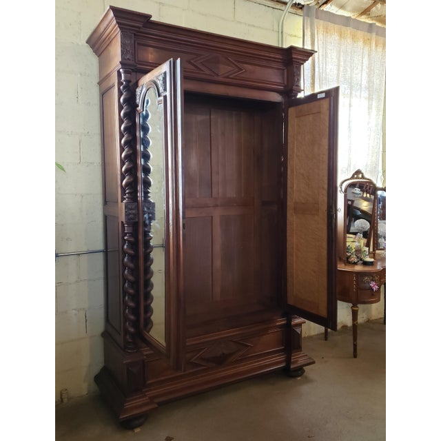 Louis XIII Period Walnut Armoire For Sale - Image 11 of 13