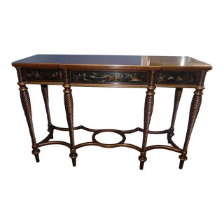 John Widdicomb Chinoiserie Console Table For Sale