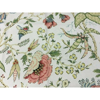 Thibaut Chinoiserie Floral Print Cotton and Linen Multi-Purpose Fabric - 2 Yards For Sale