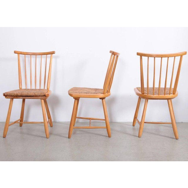 1950s Arno Lambrecht Dining Set of Table, Three Chairs and a Bench for WK Mobel For Sale - Image 5 of 11