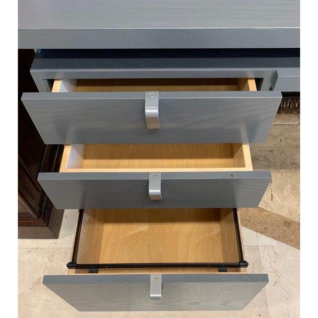 Metal Industrial Antoine Proulx Tanker Desk For Sale - Image 7 of 13
