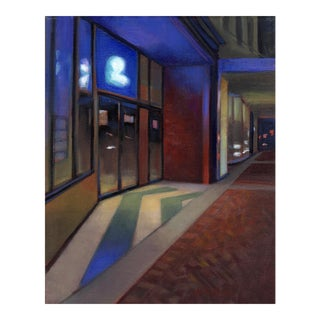 "Peter Contemporary Architectural Painting ""The Upstairs Club"" For Sale"