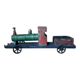 Wooden Painted Toy Train For Sale