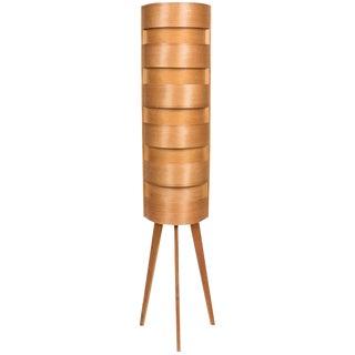 1960s Hans-Agne Jakobsson Wood Tripod Floor Lamp for Ab Ellysett For Sale