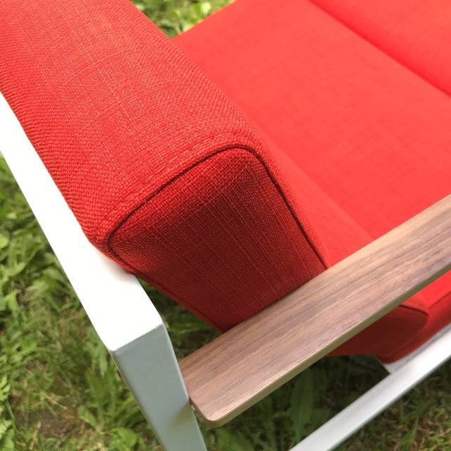 2010s Gus Modern Halifax Chair Upholstered in Red For Sale - Image 5 of 11