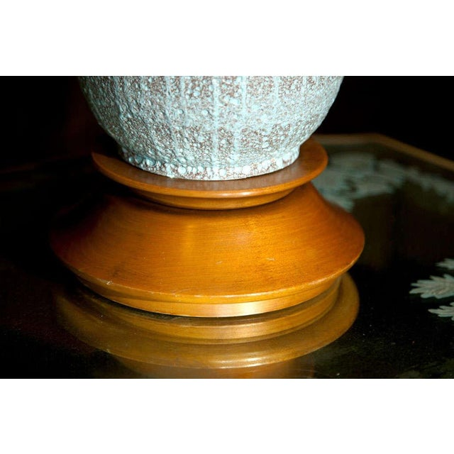 "Ceramic 1960s Vintage Pale Blue ""Lava"" Ceramic Lamp For Sale - Image 7 of 22"