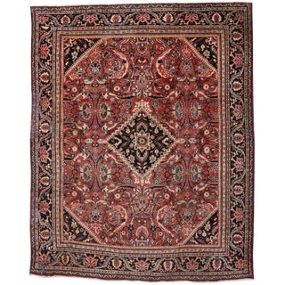 Vintage Mid-Century Persian Mahal Area Rug - 10′9″ × 13′3″ For Sale