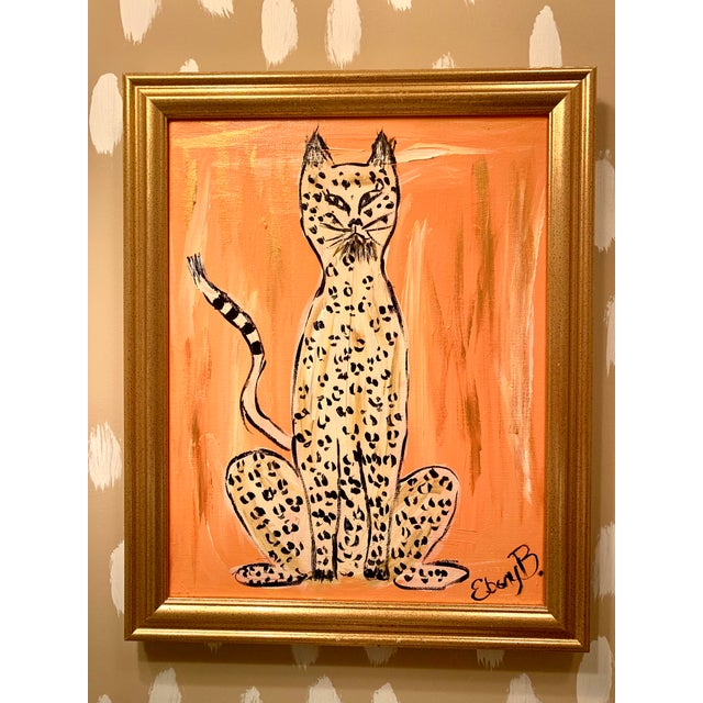 """""""Cheeky"""" Leopard Painting For Sale - Image 4 of 4"""