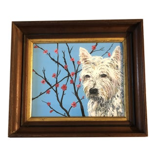 """West Highland Terrier Print by Judy Henn """" Spring Westie"""" For Sale"""