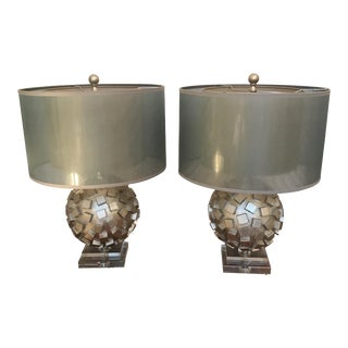 Mid-Century Inspired Transitional Lamps - A Pair For Sale