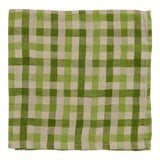 Image of Checkerboard Napkins, Green, Set of 4 For Sale