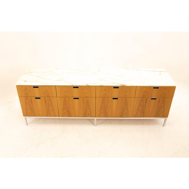 Florence Knoll Mid Century Modern White Marble Top Sideboard Credenza For Sale In Chicago - Image 6 of 11