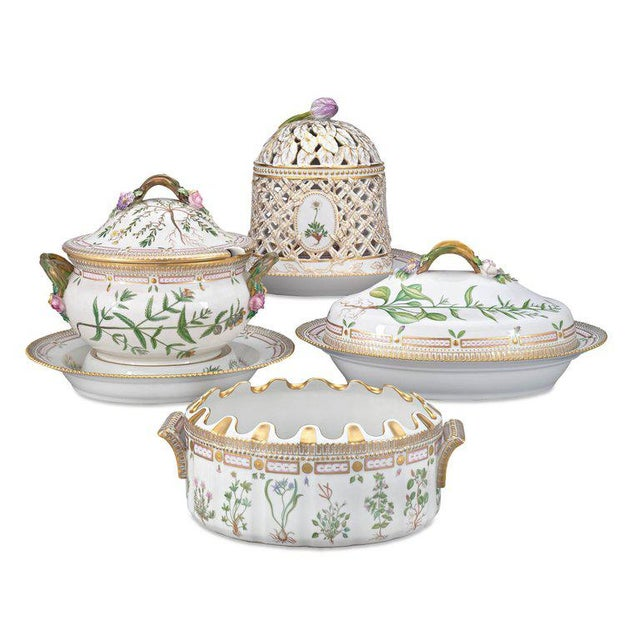 Synonymous with royalty since its inception, the Royal Copenhagen Porcelain Manufactory's resplendent Flora Danica...