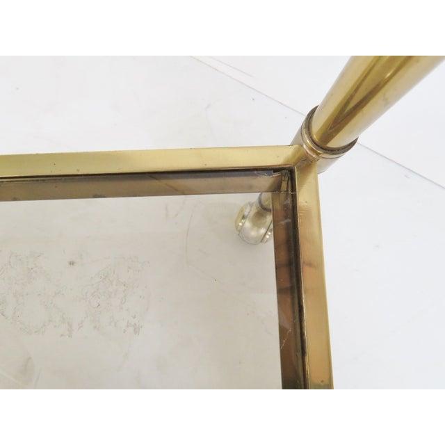 Mid-Century Modern Brass & Glass Bar Cart - Image 5 of 5