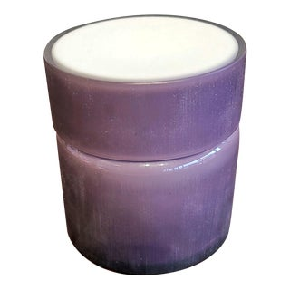 1960s Vistosi Frosted Amethyst and White Cased Glass Box (Murano) For Sale