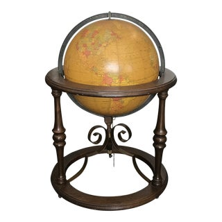 Vintage Mid-Century Light Up Globe For Sale