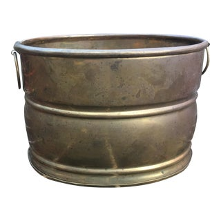 1970s Vintage Brass Planter For Sale