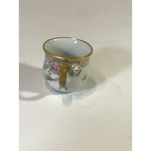 Royal Copenhagen Flora Danica Demitasse With Lid and Saucer Butter Cup For Sale In Los Angeles - Image 6 of 13