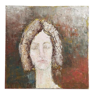 Oil Portrait on Canvas of Girl For Sale