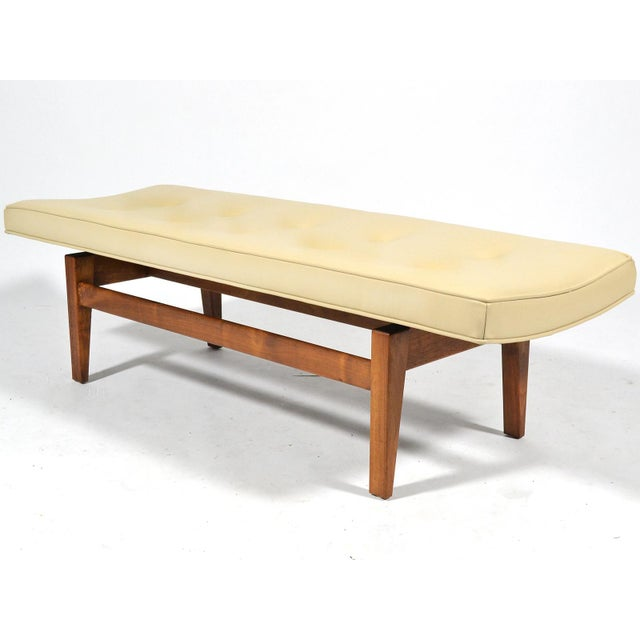 Jens Risom Floating Bench with Leather Seat - Image 2 of 9