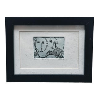 Modern Surrealist Etching For Sale