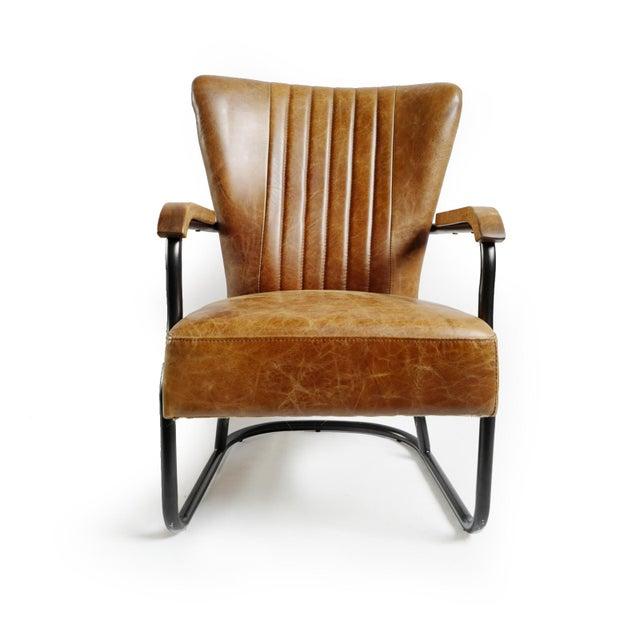 Surprising Retro Leather Arm Chair Dailytribune Chair Design For Home Dailytribuneorg