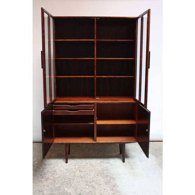 Danish Rosewood Two-Piece Bookcase by Gunni Omann - Image 2 of 8