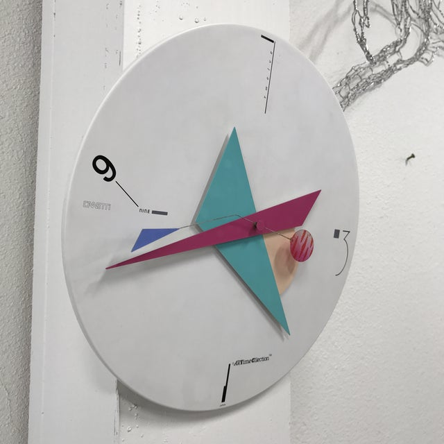 Canetti Modern Wall Clock For Sale - Image 4 of 11
