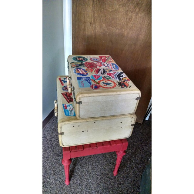 Vintage Suitcase Storage Accent Table - Image 6 of 9