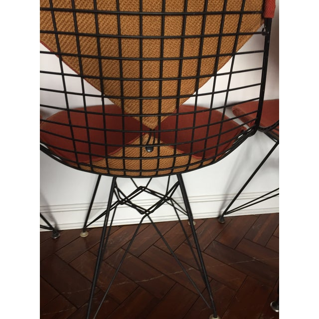 Black Eames DKR Black Wire Chairs - Set of 3 For Sale - Image 8 of 11