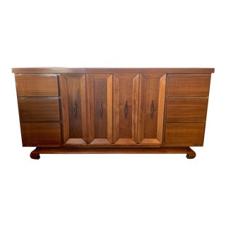 American of Martinsville Mid Century 9 Drawer Dresser Credenza For Sale