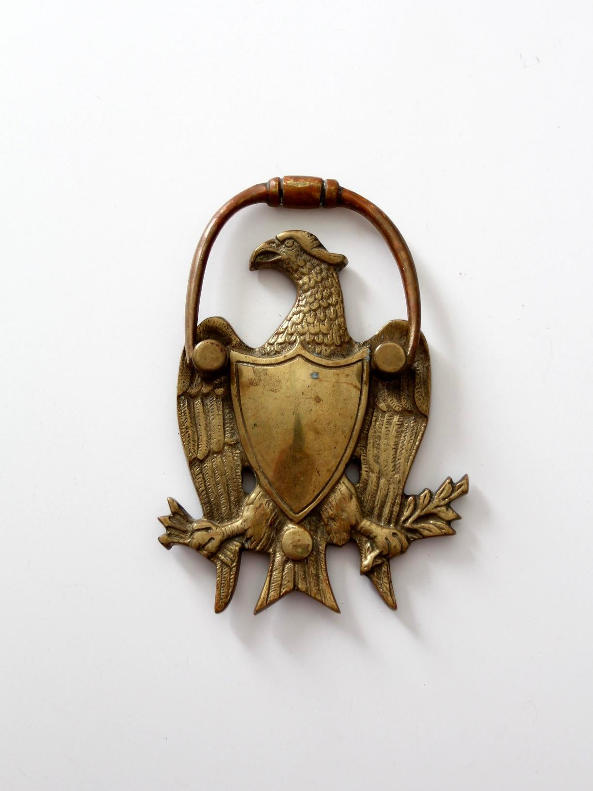 Charming Antique Brass Eagle Door Knocker For Sale   Image 4 Of 6