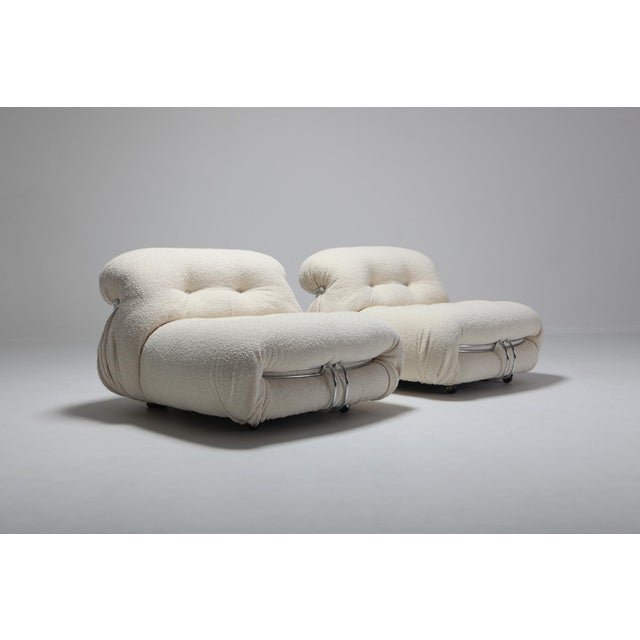 Cassina 'Soriana' Pair of Lounge Chairs by Afra and Tobia Scarpa - 1970s For Sale - Image 6 of 11
