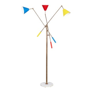 Angelo Lelli Style Triennale Floor Lamp For Sale