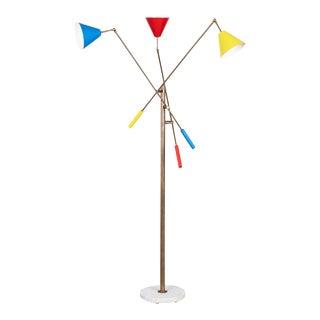 Angelo Lelli Style Triennale Floor Lamp For Sale