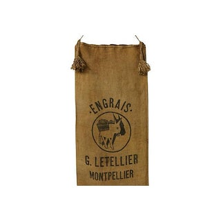 French Farm Sack With Tassels For Sale