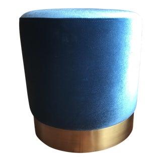 Blue Velvet Stool