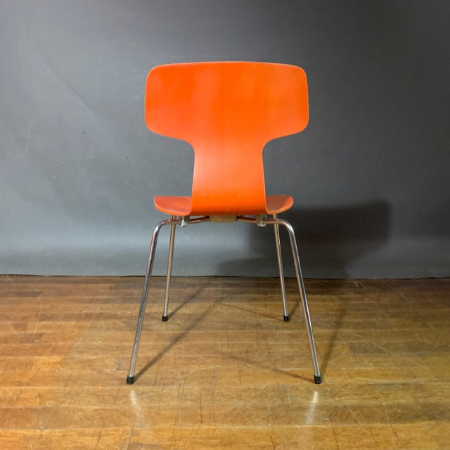 Metal 1970s Vintage Arne Jacobsen For Fritz Hansen Dining Chairs-Set Of 5 For Sale - Image 7 of 11